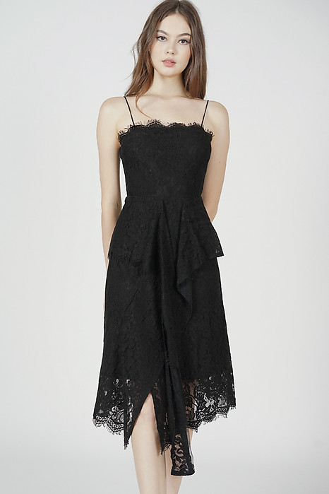 Gwenith Lace Dress in Black