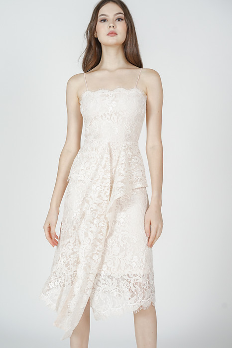 Gwenith Lace Dress in Cream