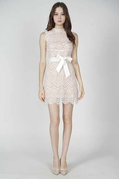 Daere Lace Dress in White