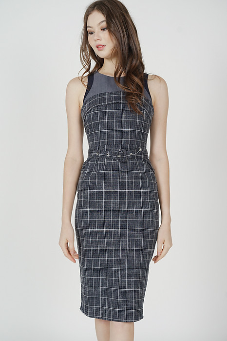 Olben Buckled Midi Dress Midnight