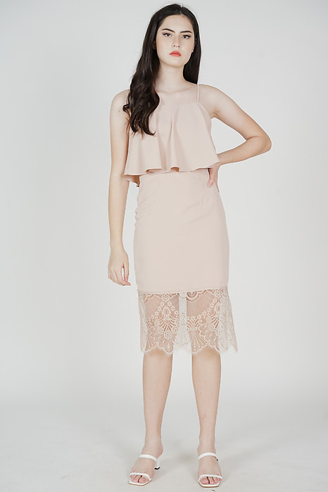 Lara Overlay Dress in Pink