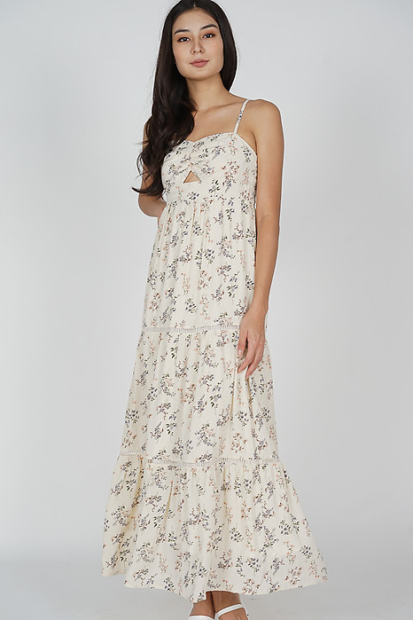 Arleth Maxi Dress in Cream Floral