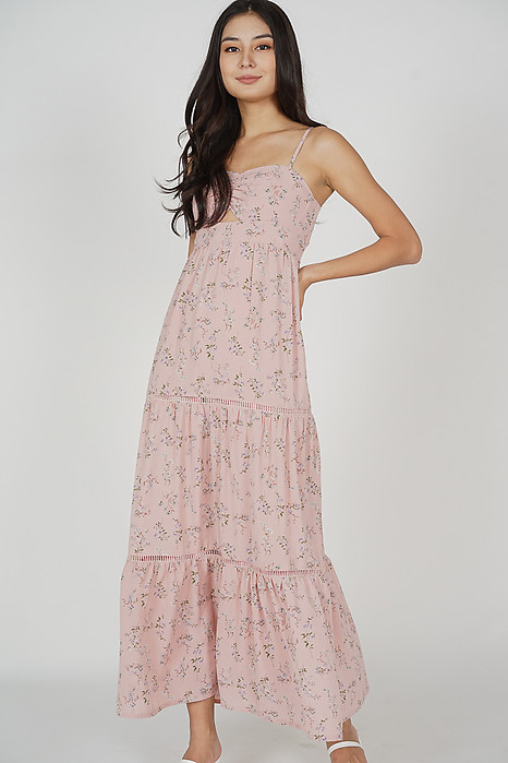 Arleth Maxi Dress in Pink Floral