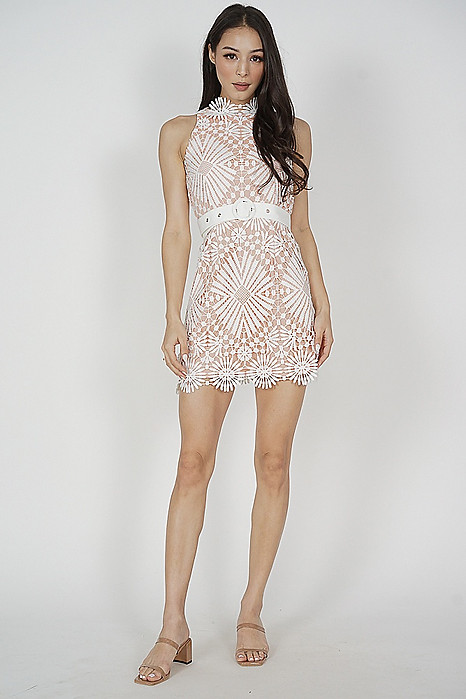 Juri Lace Dress in White