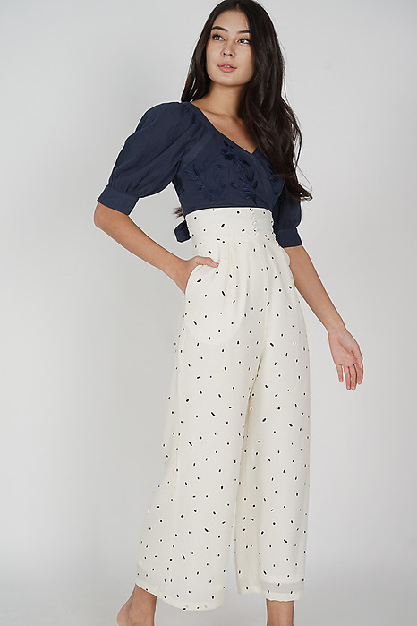 Haini Wide-Leg Pants in White