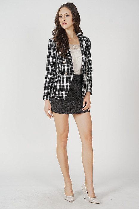 Oxley Tweed Blazer in Black