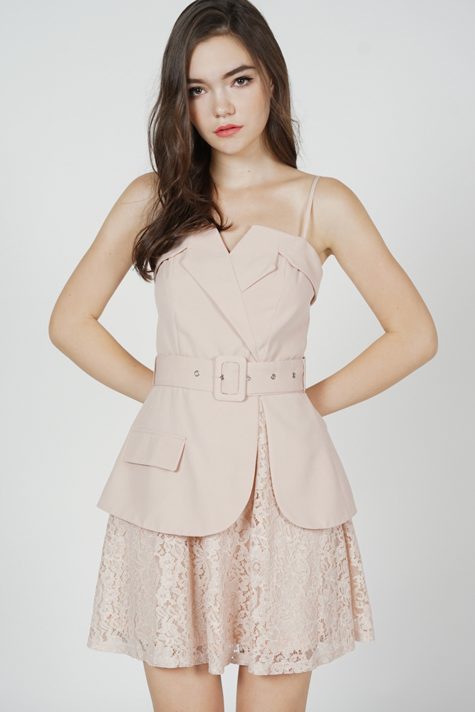 Kayson Buckled Dress in Pink