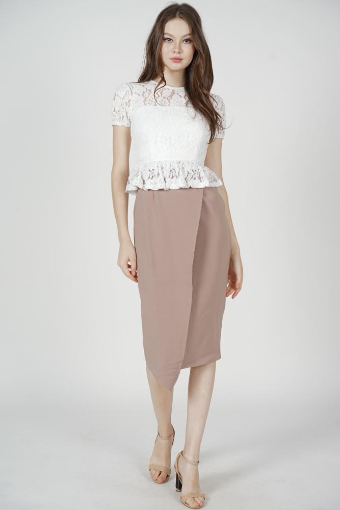 Calina Lace Dress in White