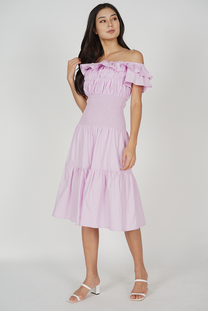 Taki Smocked Dress in Pink