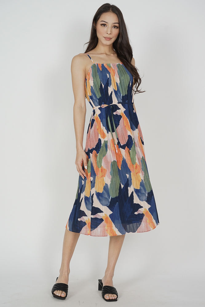 Gerald Cami Dress in Multi Abstract