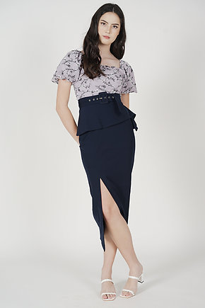 Biryo Fold-Over Skirt in Midnight