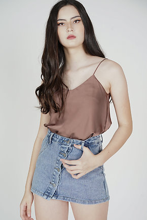 Saina Cami Top in Brown
